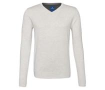 Basic Sweater 'v-neck' grau