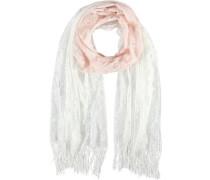 Polyester-Schal rosa / weiß