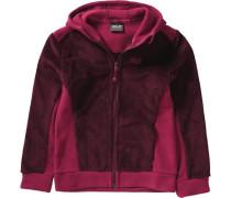 Fleecejacke 'moose' pink / rotviolett