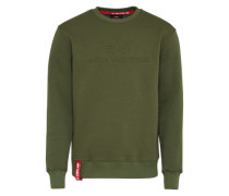 Sweatshirt '3D' dunkelgrün