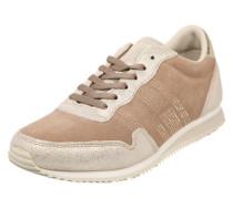 Sneaker im Glitzer-Look sand / gold