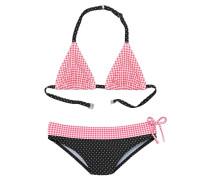 Triangel-Bikini pink / schwarz