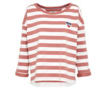 Sweatshirt rosé / weiß