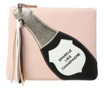 Kosmetiktasche 'Champagne' rosa / schwarz / naturweiß