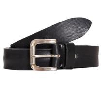 Leder-Gürtel schwarz