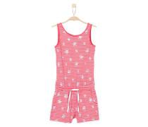 Jumpsuit mit Sternen-Print pink / silber / weiß