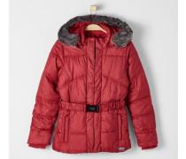Multifunktionale Winterjacke rot