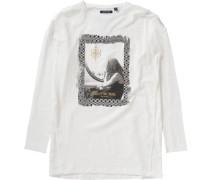 Langarmshirt für Mädchen gold / grau / schwarz / weiß