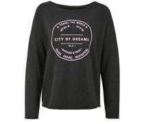 Fleece Sweater 'dreams' anthrazit / hellpink