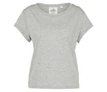 T-Shirt im Boxy-Stil 'Have' grau