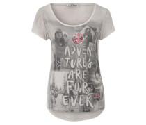 Shirt 'adventures Forever' grau / mischfarben