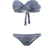 Bikini 'PW Print Balconette' blau / weiß