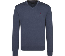 Pullover 'cotton Silk Vneck' blau