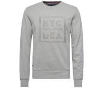 Sweatshirt 'damian C-Nk L/S VF' graumeliert