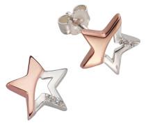 Paar Ohrstecker »Stern« mit Zirkonia silber