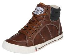 Gefütterter Sneaker High braun