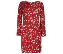 Kleid 'galina' khaki / rot / weiß