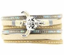 Armband »Bull 6387« beige / silber