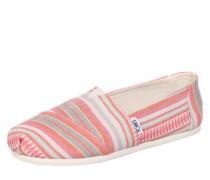 Espadrilles 'Alpargata' koralle / pink / weiß