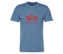 Print-Shirt hellblau / rot