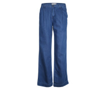 Wide Leg Jeans blau