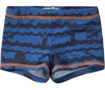 Badehose für Jungen UV-Schutz 50+ blau / orange / schwarz