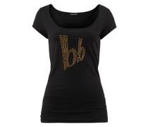 T-Shirt gold / schwarz