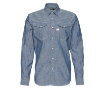 Langärmeliges Hemd 'tacoma' blue denim