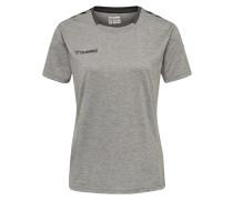 Trainingsshirt graumeliert / schwarz