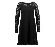 Viskose-Kleid aus Spitze schwarz