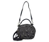 Bauletto Mini Bag Umhängetasche Leder 19 cm schwarz