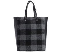 Tasche Gemusterte grau / schwarz