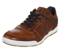 Sneaker aus Leder braun