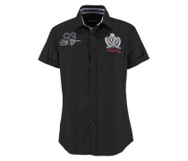 Kurzarmhemd schwarz
