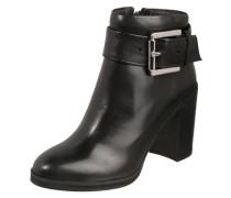 Leder-Boots mit Riemen-Design schwarz
