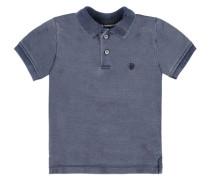 Junior Poloshirt 1/4 Armlänge Jungen Baby blue denim