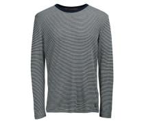 Melange-Sweatshirt blau