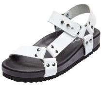 Leder-Sandalen weiß
