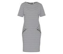 Jerseykleid 'Dena' blau / weiß