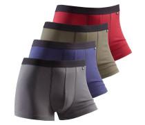 Boxer (4 Stck.) grau / lila / rot / schwarz