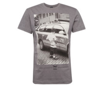 T-Shirt 'Pissizei' dunkelgrau