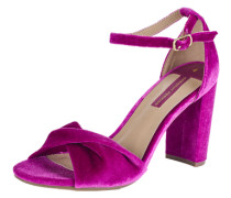 Pumps mit Samt-Optik 'Shani' fuchsia