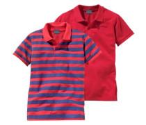 Poloshirt (Packung 2 Stück) für Jungen blau / rot