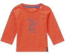 Langarmshirt Defiance blau / orange