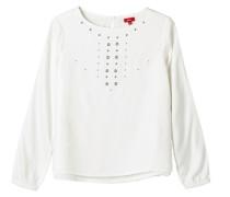 Double Layer-Bluse mit Nieten weiß