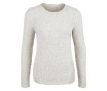 Pullover aus Bouclé-Strick weiß