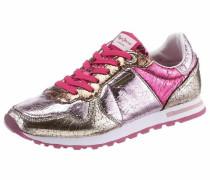 Sneaker gold / lila / pink