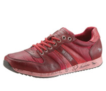 Sneaker mit starkem Used Look rot