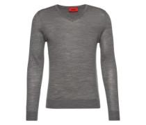 Pullover mit V-Ausschnitt 'San Carlo' grau