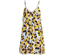 Träger-Kleid 'vithes Dress' gelb / schwarz / weiß